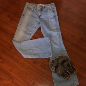 Levi's low flare jeans